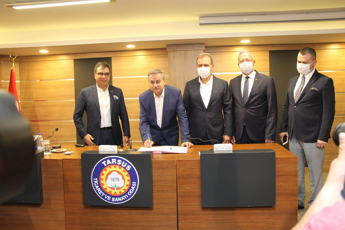 MTOSB İLE TARSUS OSB ARASINDA KARDEŞ OSB PROTOKOLÜ İMZALANDI