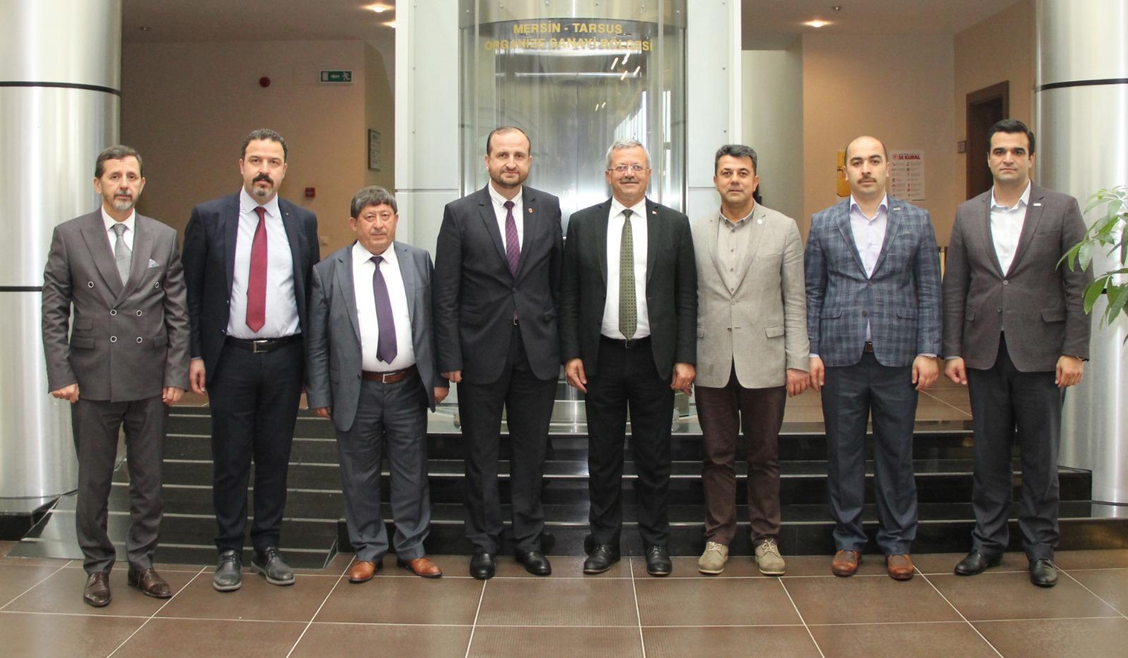 OSB BÖLGE MÜDÜRLERİ KOORDİNASYON TOPLANTISI'NDA MTOSB'DE BULUŞTU